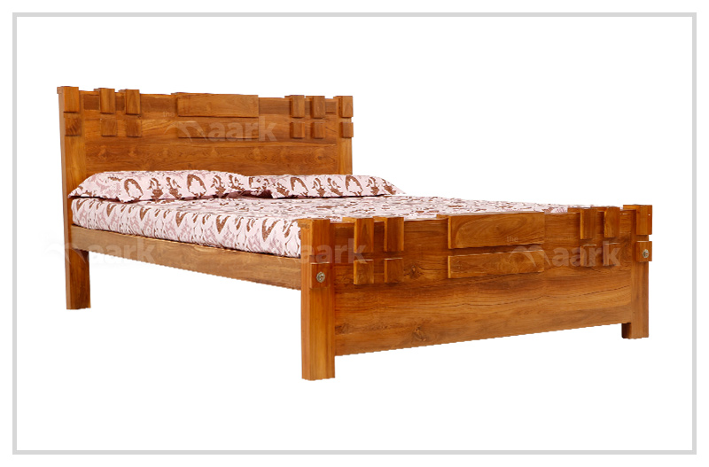 Teak Wood Queen Size Cot